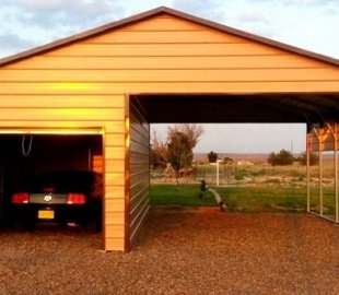 Carport - A-Frame - Partial Enclosed - #2