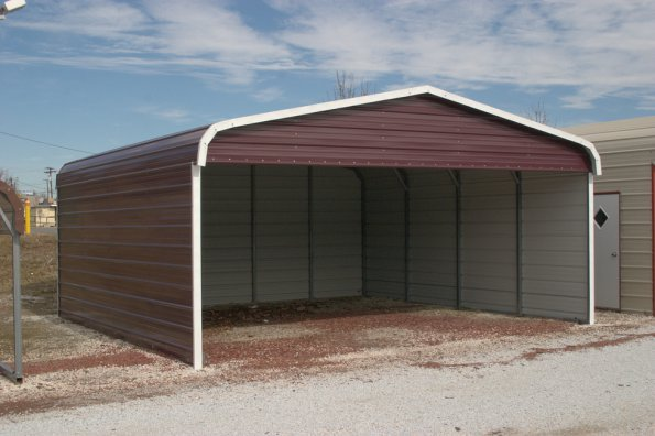 Carport - A-Frame - Partial Enclosed - #3