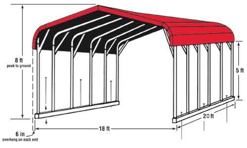 Carport Structure - Standard Design - #9